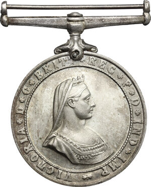 obverse: Great Britain.  Victoria (1837-1901).. AR Service medal of the Order of St. John (1898-1947)