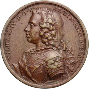 obverse: Netherlands.  Wilhelm IV Prince of Orange Nessau (1711-1751).. AE Medal, 1747