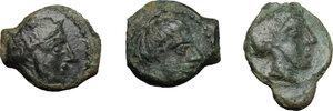 obverse: Sicily. Syracuse. Second Democracy (466-405 BC).. Lot of 3 AE Onkia