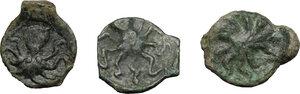 reverse: Sicily. Syracuse. Second Democracy (466-405 BC).. Lot of 3 AE Onkia