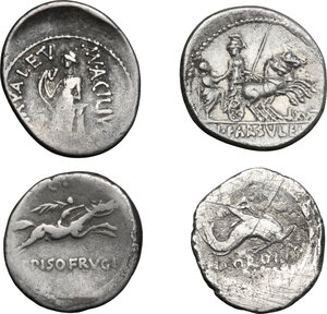 reverse: Roman Republic. Lot of 4 unclassified AR Denarii