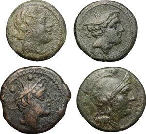 obverse: Roman Republic. Lot of 4 unclassified AE Denominations