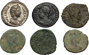 obverse: The Roman Empire. Lot of 6 unclassified coins