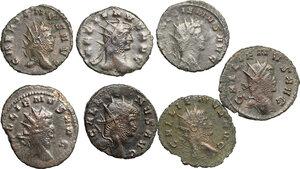 obverse: Roman Empire.. Multiple lot of eight (8) unclassified BI Antoniniani of Gallienus