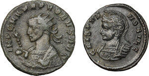 obverse: Roman Empire. Lot of 2 unclassified AE coins, including: Probus and Crispus