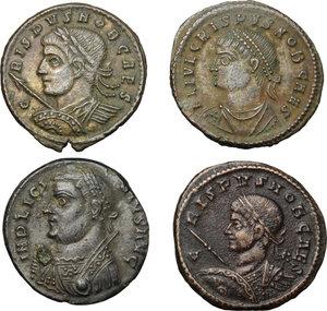 obverse: Roman Empire. Lot of 4 unclassified AE Coins, including: Licinius, Crispus