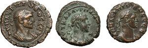 obverse: Roman Empire. Lot of 3 unclassified AE Tetradrachms, Alexandria mint, including: Aurelian, Probus