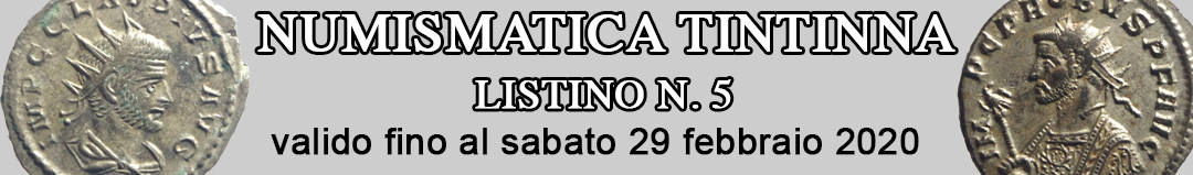 Banner Tintinna listino di vendita n. 5
