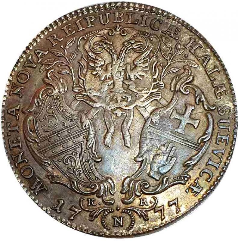 obverse: Germany, Schwäbisch Hall, Half Thaler Nuremberg 1777 KR - VERY RARE