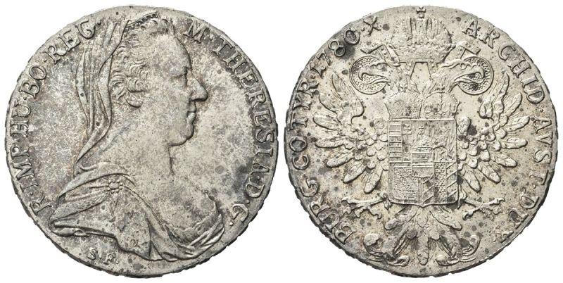 obverse: COLONIA ERITREA - VITTORIO EMANUELE III, 1900-1943. - TALLERO DI CONVENZIONE (1780) 1935, ROMA.