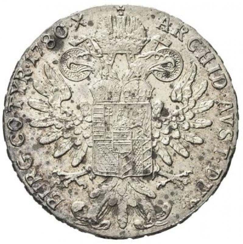 reverse: COLONIA ERITREA - VITTORIO EMANUELE III, 1900-1943. - TALLERO DI CONVENZIONE (1780) 1935, ROMA.