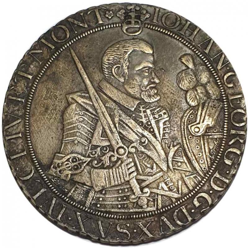 obverse: Germany, Saxony. Jan Jerzy I Wettin, 1615-1656. 1 Thaler (taler) 1655, Dresda