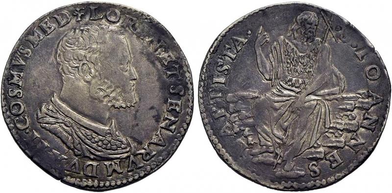 obverse: FIRENZE - Cosimo I (1536-1574) - Testone Ag