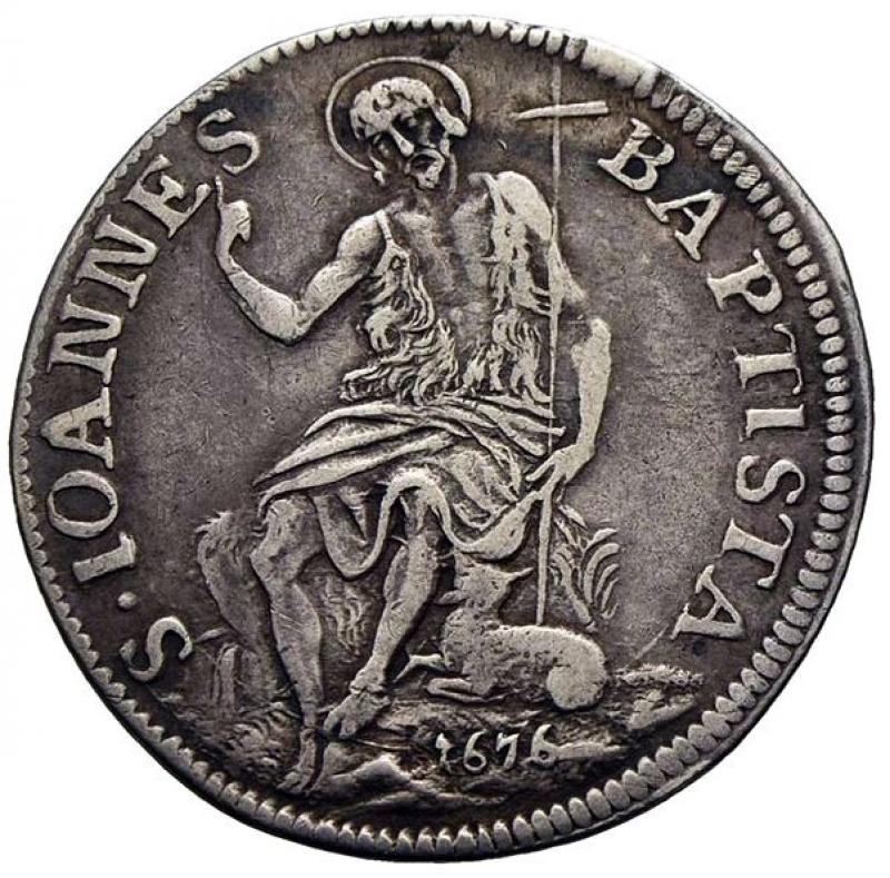 obverse: FIRENZE - Cosimo III (1670-1723) - Testone - 1676 - AG R CNI 15/19; MIR 332/2 - BB