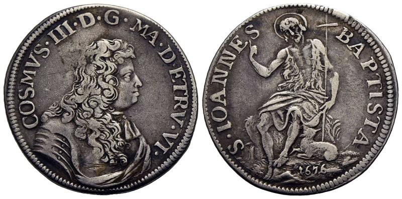 reverse: FIRENZE - Cosimo III (1670-1723) - Testone - 1676 - AG R CNI 15/19; MIR 332/2 - BB