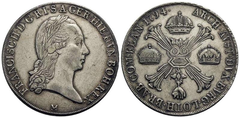 obverse: MILANO - Francesco II d Asburgo - Lorena (1792-1800) - Crocione - 1794 - AG R CNI 10; Mont. 163 - BB+
