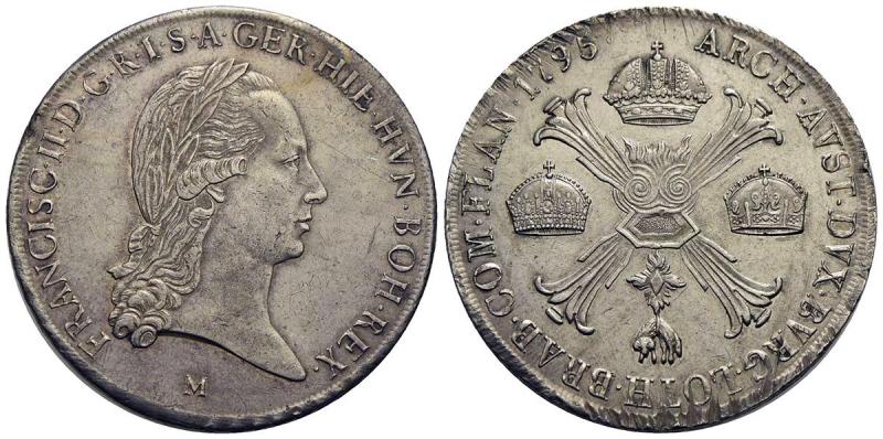 obverse: MILANO - Francesco II d Asburgo - Lorena (1792-1800) - Crocione - 1795 - AG RR CNI 15; Mont. 164 - qSPL