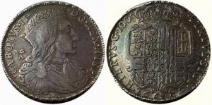 obverse: Carlo II di Spagna, Re di Napoli e Sicilia, 1665-1700. Ducato da 100 Grana 1689