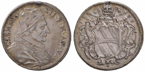 obverse: Roma – Clemente XII (1730-1740) - Testone 1735 An. V .