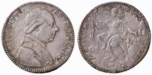obverse:  Roma – Pio VI (1775-1799) - Doppio Giulio 1778 An. IV - Munt. 38B – Nomisma56 NC  BB-SPL.