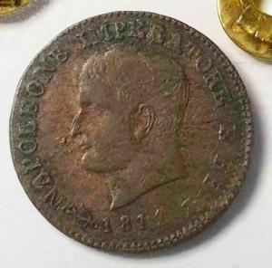 reverse: Venezia Napoleone I 1 Cent 1811 BB+