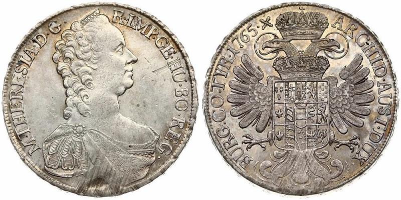 obverse: Austria 1 Thaler 1765 Maria Teresa (1740-1780). Avversa