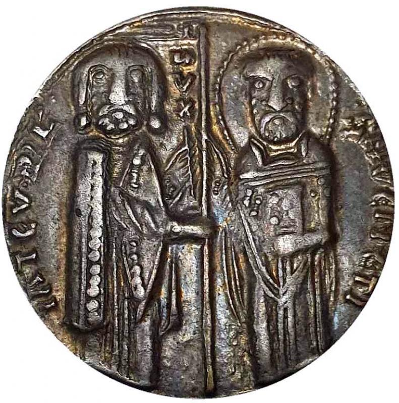 reverse: Italia - Repubblica di Venezia - Grosso - Doge Jacopo Tiepolo (1229-1249) - Argento