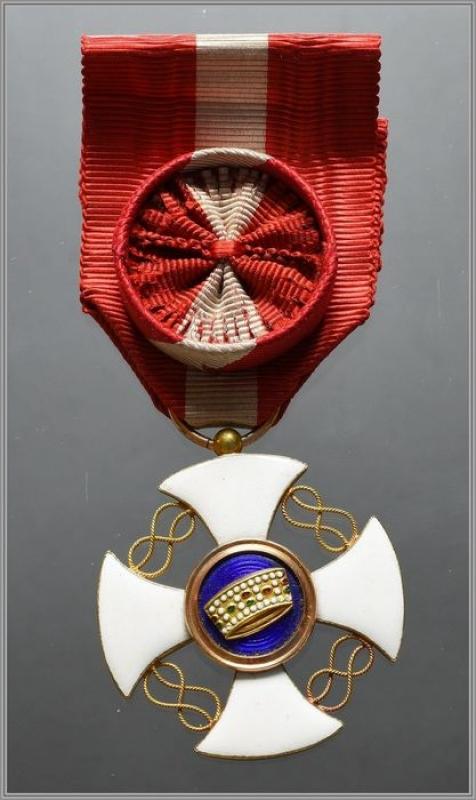 obverse: Italia. Onorificenza del Regno d Italia Croce Gran Maestro dell Ordine della Corona 36mm