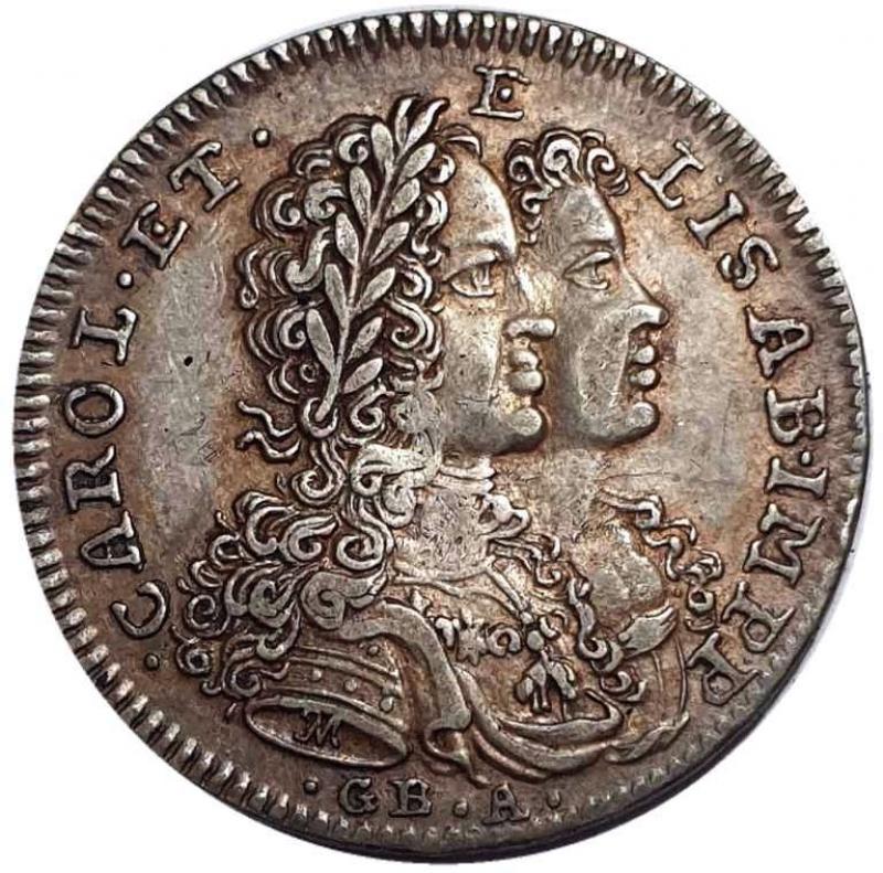 obverse: NAPOLI Carlo VI (1711-1734) Tarì per Napoli 1716 -ag