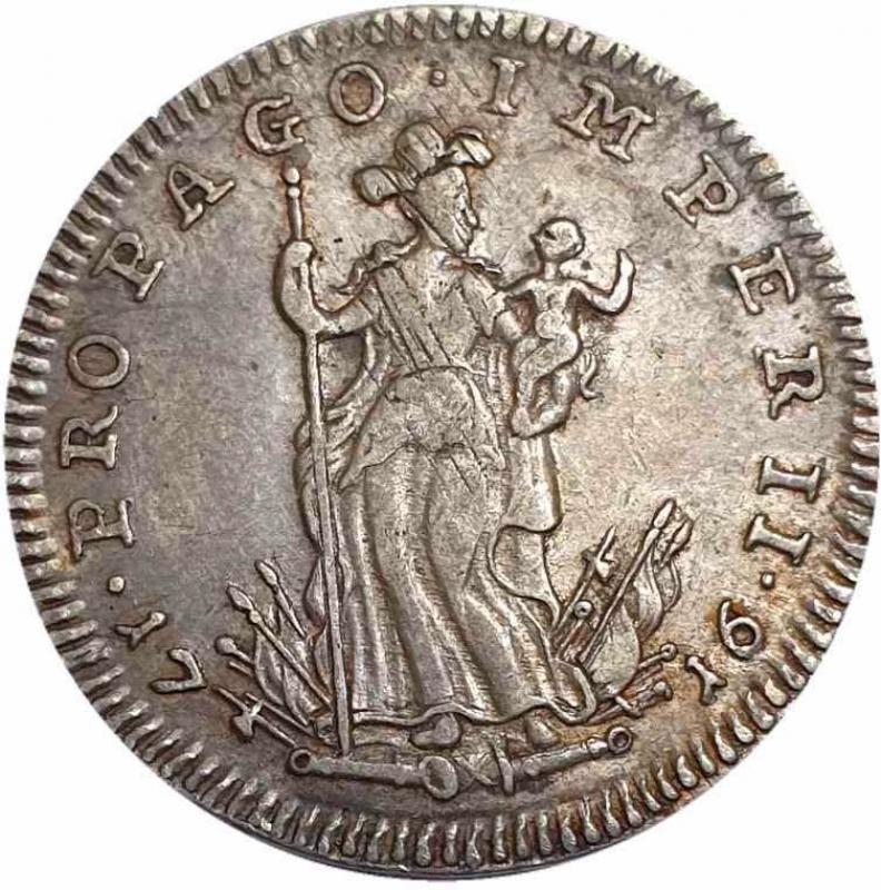 reverse: NAPOLI Carlo VI (1711-1734) Tarì per Napoli 1716 -ag
