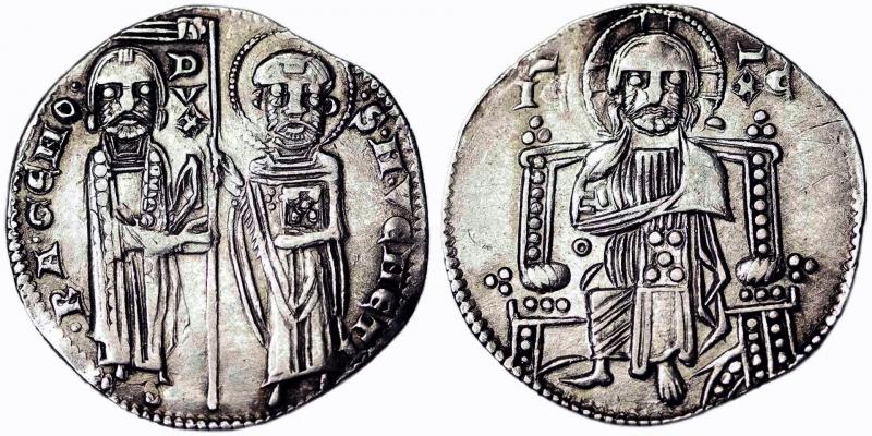 obverse: Venice Ranieri Zeno (1253-1268) Grosso (First type) Venice Zub-Luciani 63. 2.15 g.