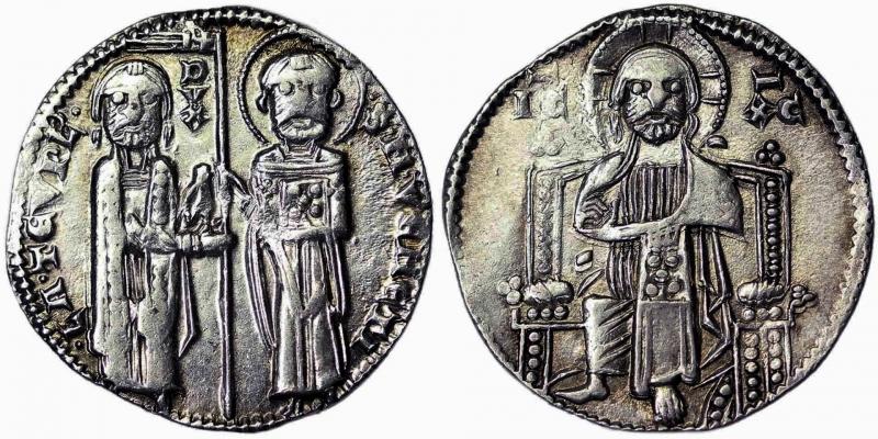 obverse: Venice Lorenzo Tiepolo (1268-1275) Grosso (First type) Venice Zub-Luciani 63. 2.16 g.
