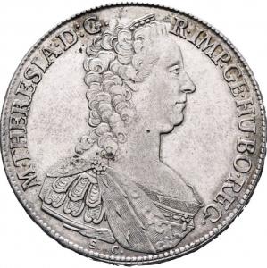 obverse: Austria, Ungheria. 1 Thaler (taler) 1765 SC Günzburg Argento