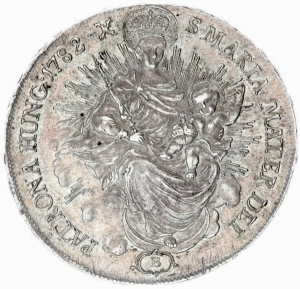 obverse: Austria Hungary 1 Thaler 1782 B Kremnitz Joseph II (1765-1790).Averse AG