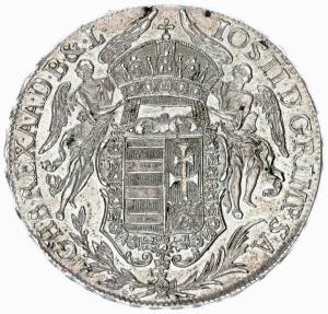 reverse: Austria Hungary 1 Thaler 1782 B Kremnitz Joseph II (1765-1790).Averse AG