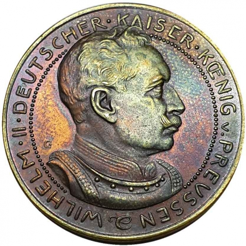 reverse: Germany - Empire Prussia 3 Mark 1913 G Karl Goetz Probe, Essai Pattern by Karl Goetz, Unc