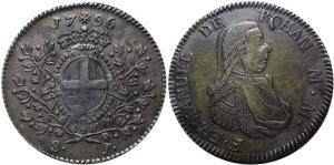 obverse: MALTA 1 Scudo - Emmanuel de Rohan 1796 qSPL Argento