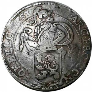 obverse: NETHERLANDS. West Friesland. Lion Dollar or Leeuwendaalder (1639).
