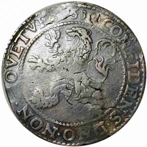 reverse: NETHERLANDS. West Friesland. Lion Dollar or Leeuwendaalder (1639).