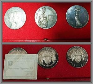 obverse: Spagna - Barcellona - Lotto di 3 medaglie commemorative S.D. - Argento