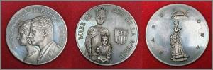 reverse: Spagna - Barcellona - Lotto di 3 medaglie commemorative S.D. - Argento