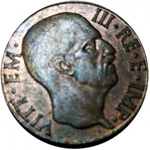 "reverse: Vittorio Emanuele III. 5 Centesimi 1943 XXI ""Impero""; Ba; Mont.397 - Pag.925.  FDC"