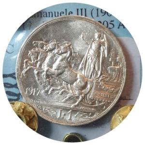 """obverse: Vittorio Emanuele III. 1 Lira 1917 """"Quadriga Briosa"""""""