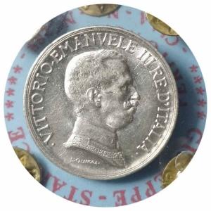 """reverse: Vittorio Emanuele III. 1 Lira 1917 """"Quadriga Briosa"""""""