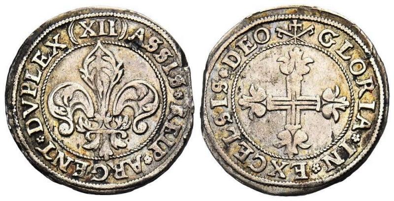 obverse: FRANCIA / ALSAZIA, STRASBURGO, CITTÀ 12 Kreuzer (Dreibätzner) senza data (intorno al 1623).