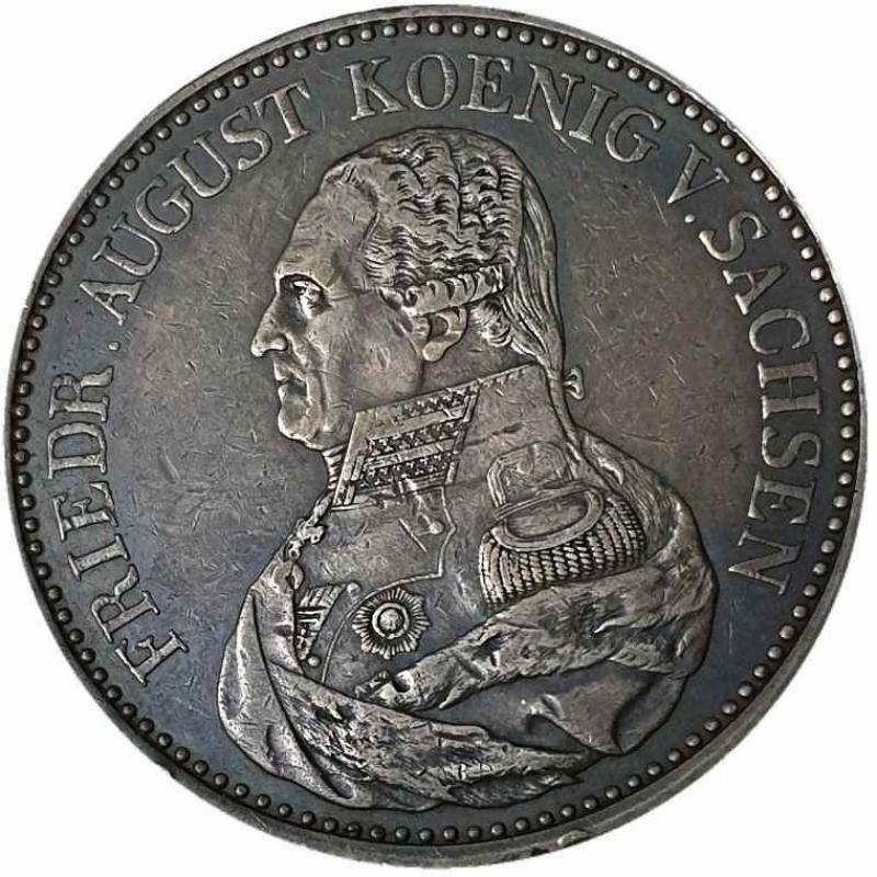 obverse: Germania SASSONIA, Elettori e Albertini. Friedrich August III. / I., 1763 - 1827. Convenzione tallero 1826 S, Dresda.