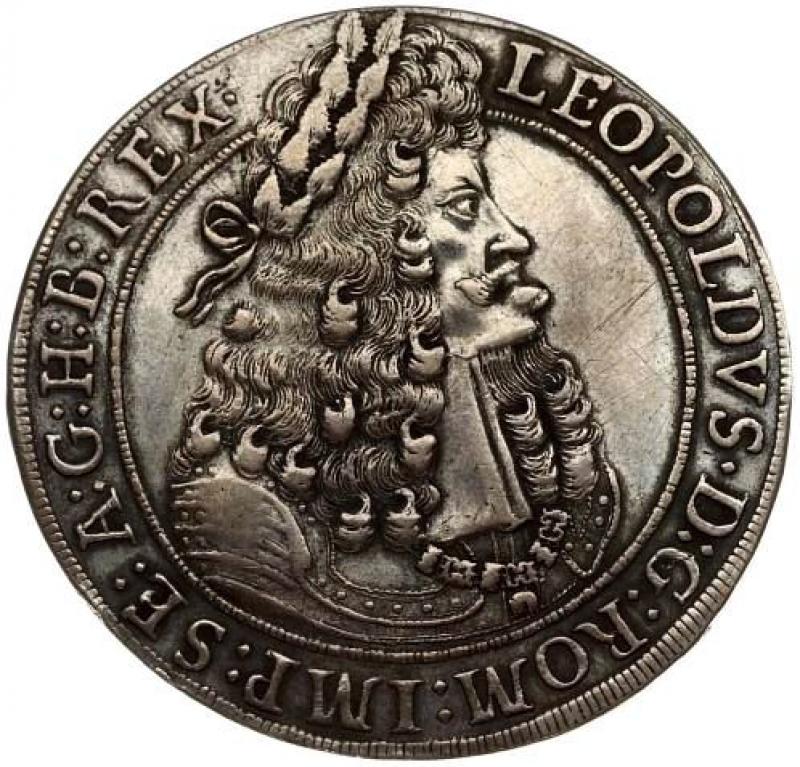 obverse: Austria 1 Thaler 1704 Hall. Leopoldo I (1657-1705).