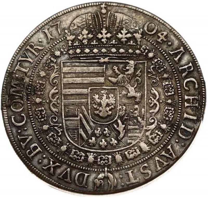 reverse: Austria 1 Thaler 1704 Hall. Leopoldo I (1657-1705).
