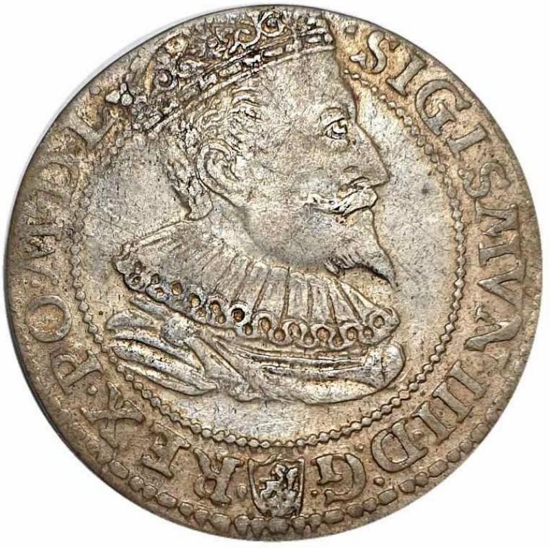 obverse: Poland, World coins 6 Groschen 1596. Malbork.good VF / about EF.