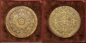 reverse: Messico - Grande Medaglia (79mm) calendario Atzeco SD - Confezione originale - Bronzo